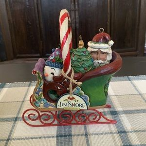 "Jim Shore ""Jingle All the Way"" Ornament Sleigh"